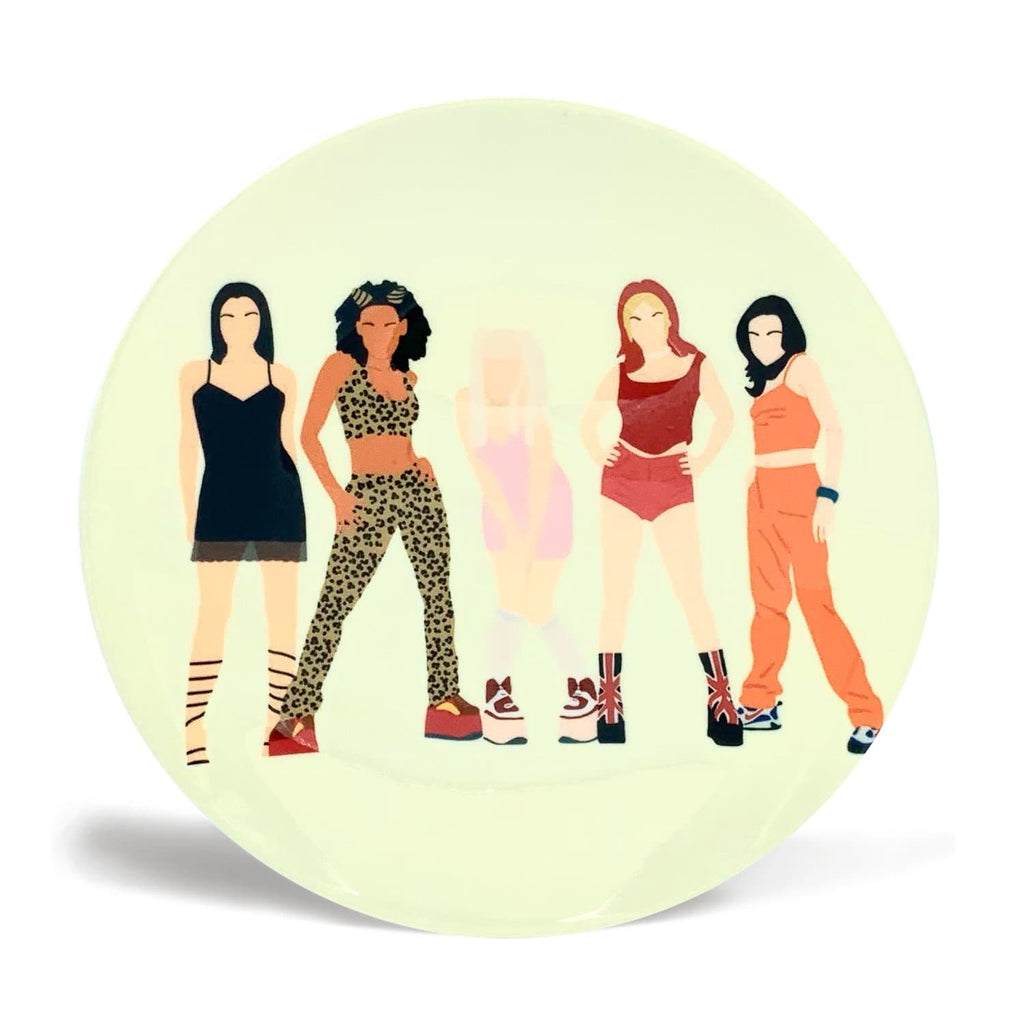 Plate spice girls girl power 90s cheryl boland for We Built This City 1