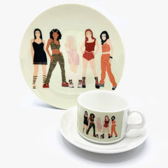 Plate spice girls girl power 90s cheryl boland for We Built This City 2