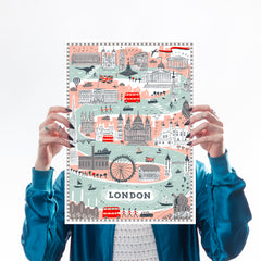 Forever London Art Map Alice Tait for We Built This City 1
