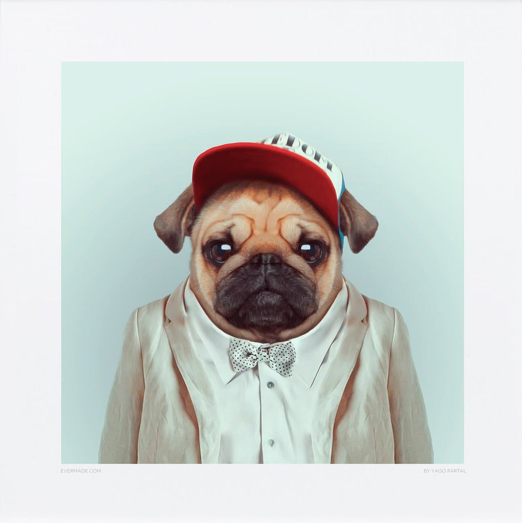 Pug Art Wildlife Yago Partal for We Built This City 2