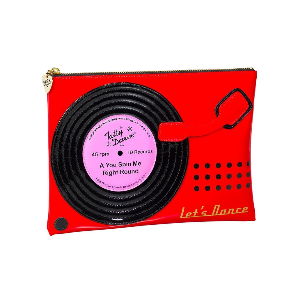 Record Player Cosmetic Pouch