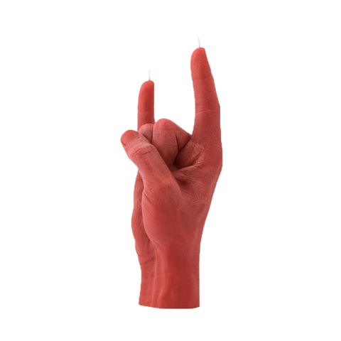 You Rock Candle Hand (Red)