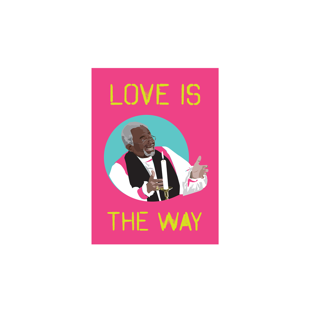Love Is The Way - Bishop Curry Postcard (Pink)