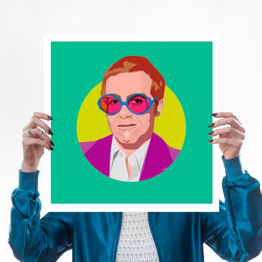 Elton John Rocket Man Glasses Colour Print for We Built This City 1