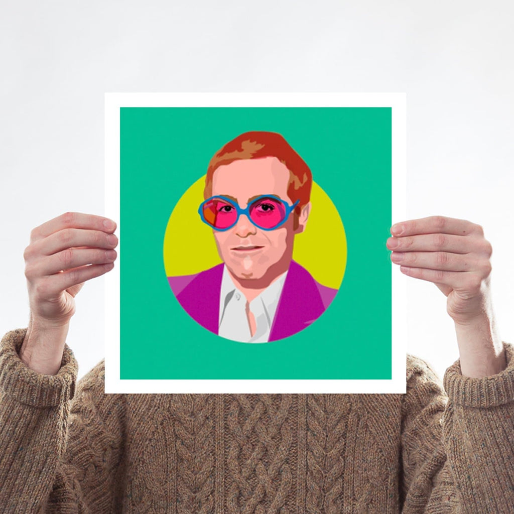 Elton John Rocket Man Glasses Colour Print for We Built This City 2