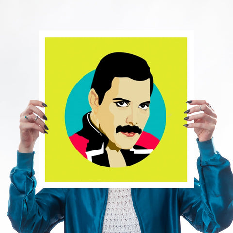 Freddie Mercury Queen Pop Art Print