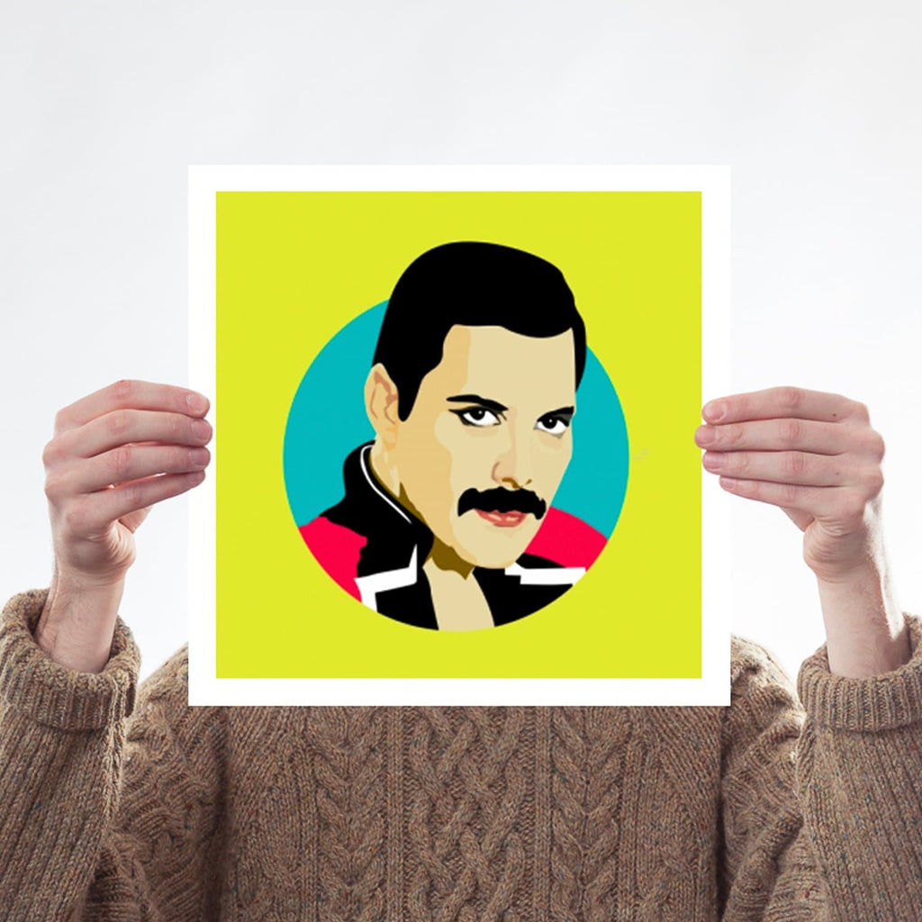 Freddie Mercury Queen Pop Art Print for We Built This City 2