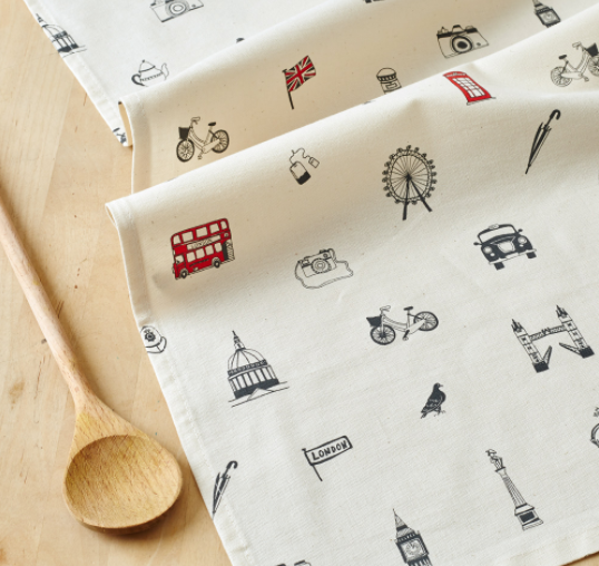 Simply London Tea Towel