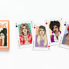 Music Genius Playing Cards Game Bookspeed for We Built This City 5