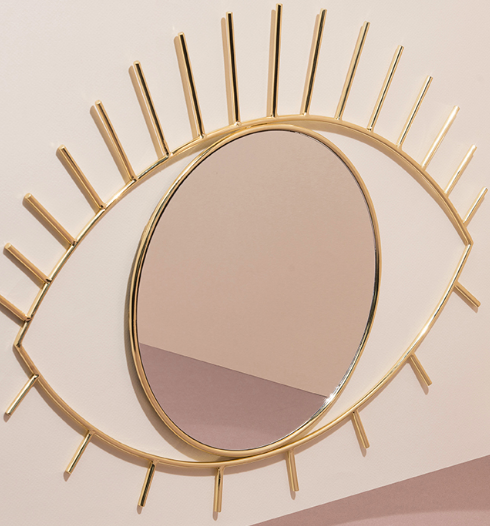 Gold Cyclops Wall Mirror