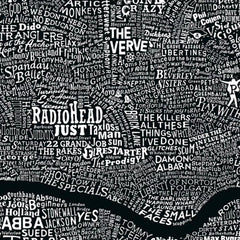 Black and White Music Map