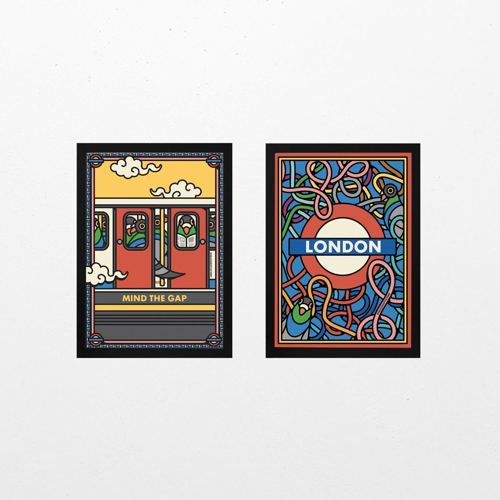 London Underground - Print Set Art Icons Season Of Victory for We Built This City 1