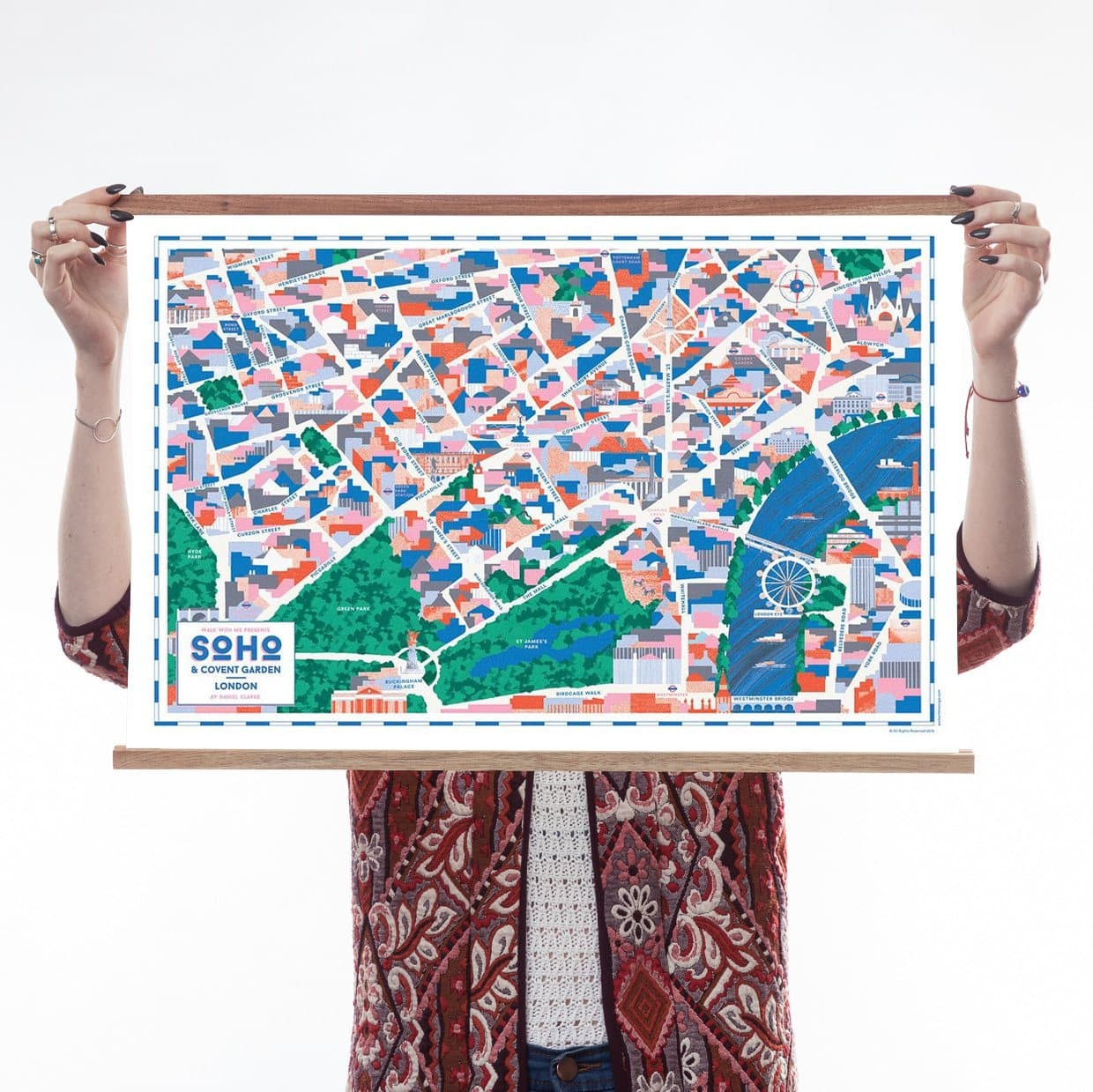 Map Of Central London To Print.Soho Covent Garden Map By Walk With Me