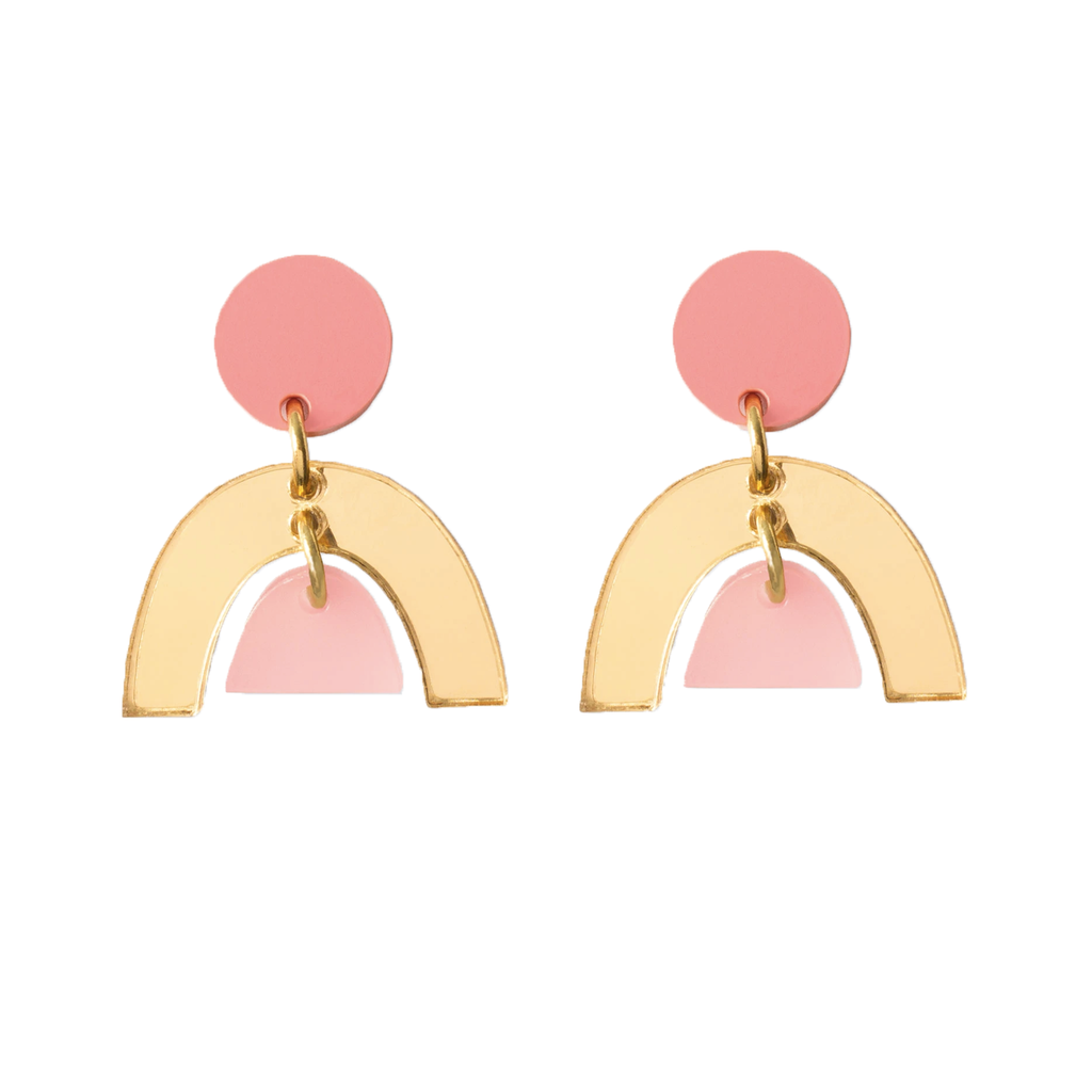 Natalie Lea Owens Sophia Earrings Peach Gold