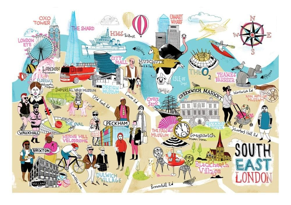 South East London Map We Built This City