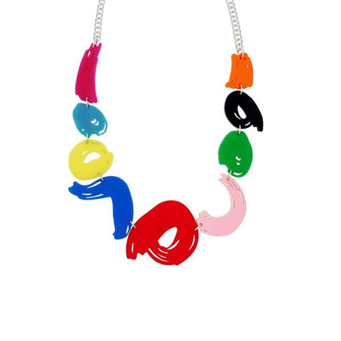 Brushstroke Link Necklace