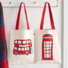 Telephone Box & London Bus Canvas Bag