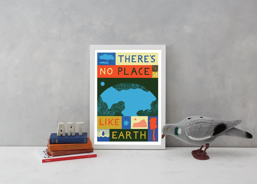 there's no place like earth climate change mother earth greenpeace friends of the earth eco warrior globe world planet b a3 lucy scott for We Built This City 3
