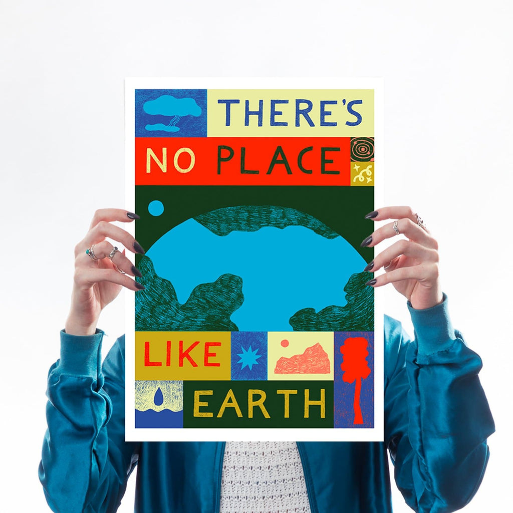 there's no place like earth climate change mother earth greenpeace friends of the earth eco warrior globe world planet b a3 lucy scott