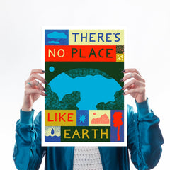 there's no place like earth climate change mother earth greenpeace friends of the earth eco warrior globe world planet b a3 lucy scott for We Built This City 1