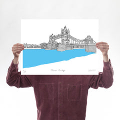 Tower Bridge Turquoise A2