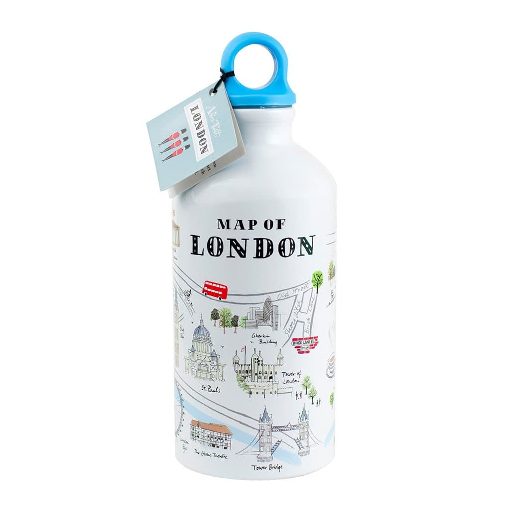 London Map Water Bottle Homeware Alice Tait for We Built This City 1