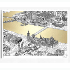 westminster gold a2 will clarke metallic map london eye for We Built This City 4