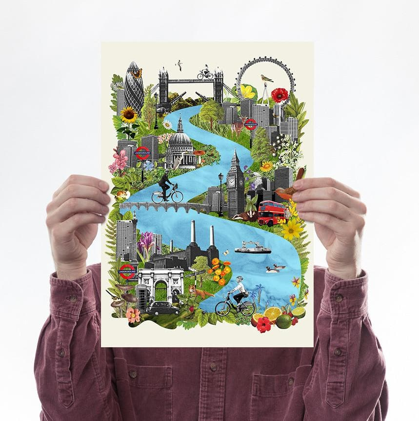 Wild London Art Map Ciara Phelan for We Built This City 1