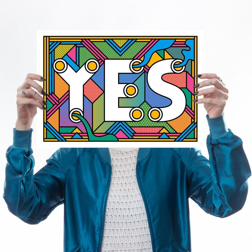 Hell Yes! Print Set Art Typography Supermundane for We Built This City 3