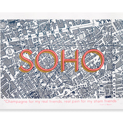 SOHO Map (Francis Bacon edition) Art Map Planet Patrol for We Built This City 2