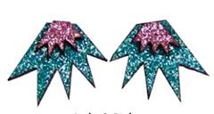 Bang Bang Mini Stud Earrings - Jade & Pink Jewellery - Earrings Kam Creates for We Built This City 3
