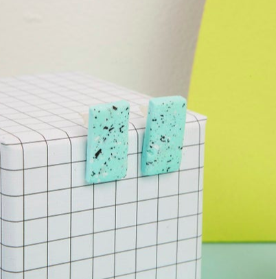 Speckle Studs - Mint