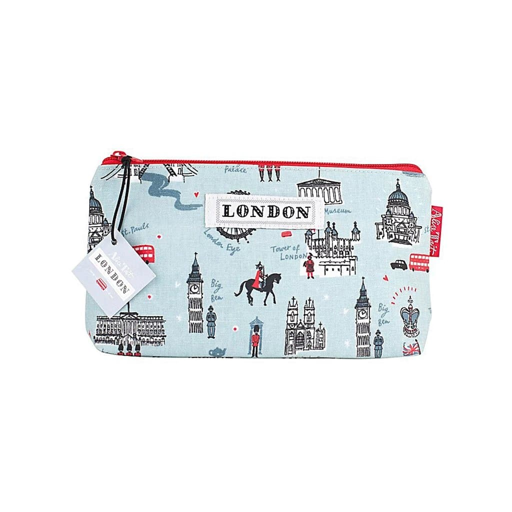 Blue London Cosmetic Zip Pouch