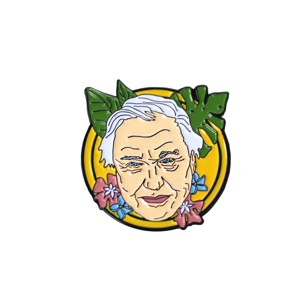 Sir David Attenborough Enamel Pin
