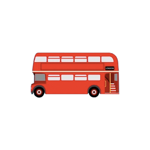 Red Bus Acrylic Badge