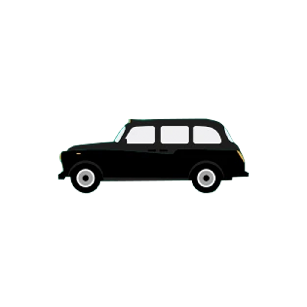 Black Cab Acrylic Badge