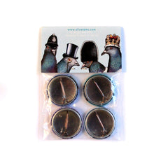 London Pigeon Badge Set