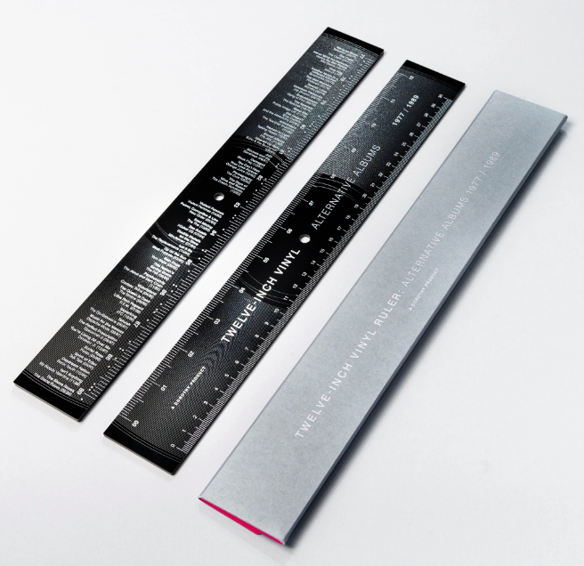 Twelve-Inch Vinyl Record Ruler - Alternative Albums