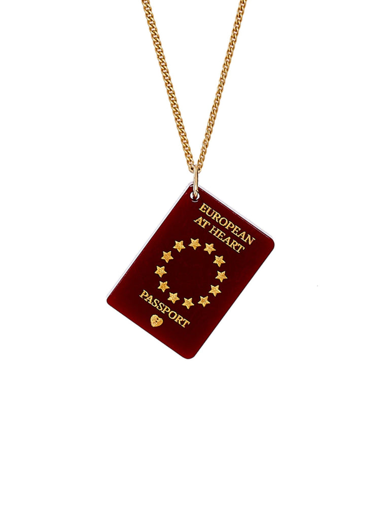 EU Passport Necklace Jewellery - Necklace Tatty Devine for We Built This City 2