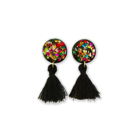 Black Canary Tassel Earrings