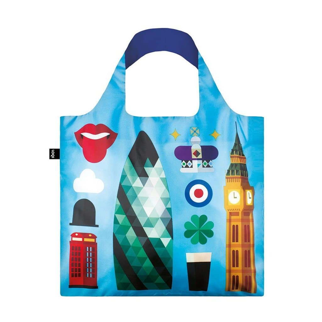 Blue London City Spin Fold Away Bag