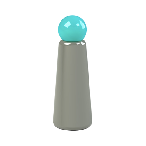 Skittle Bottle Dark Grey (Turquoise Lid)