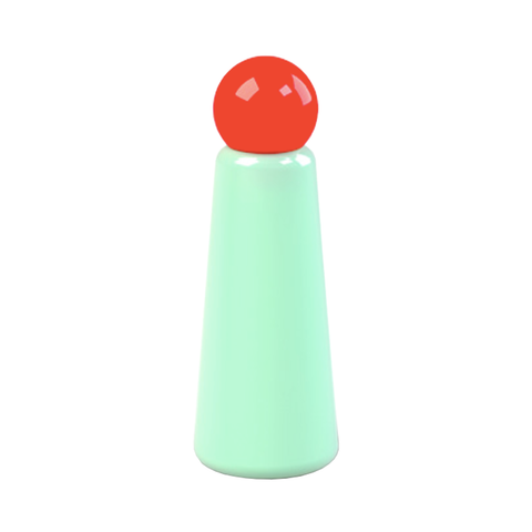 Skittle Bottle - Mint (Coral Lid)