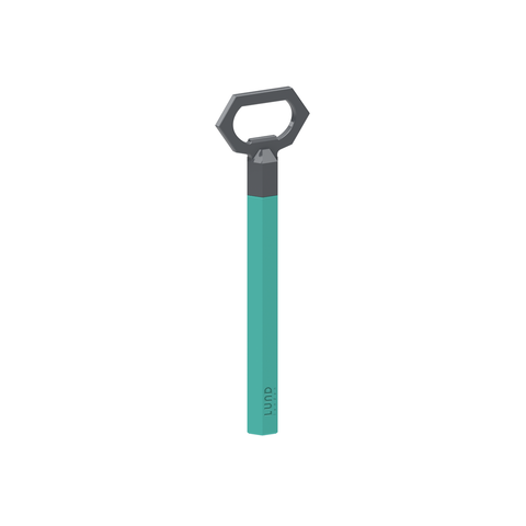 Skittle Bottle Opener – Turquoise & Dark Grey