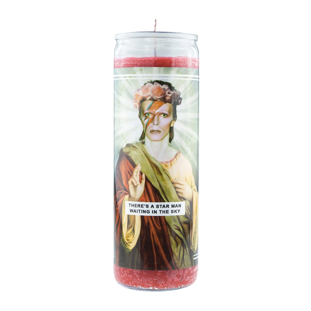 Saint Bowie Prayer Candle