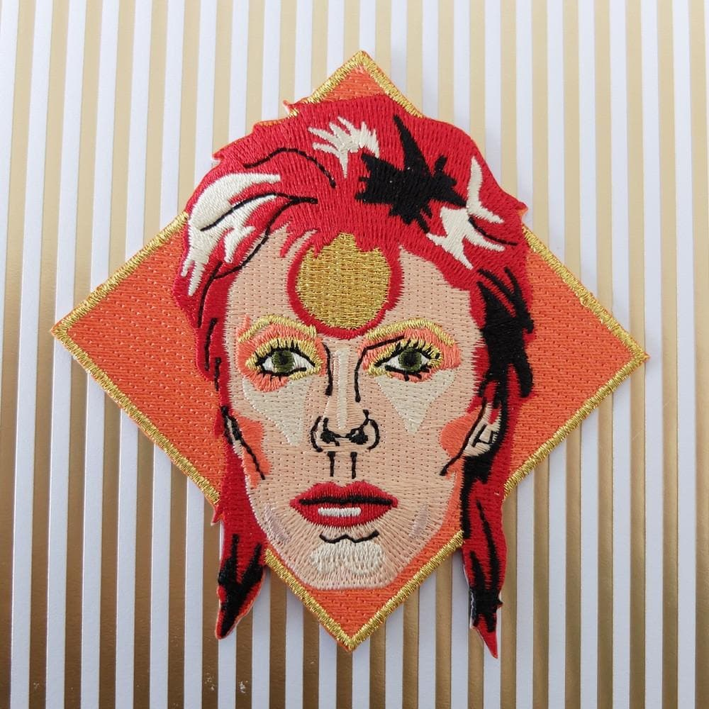 David Bowie Iron On Patch Pins & Patches Thread Famous for We Built This City 2
