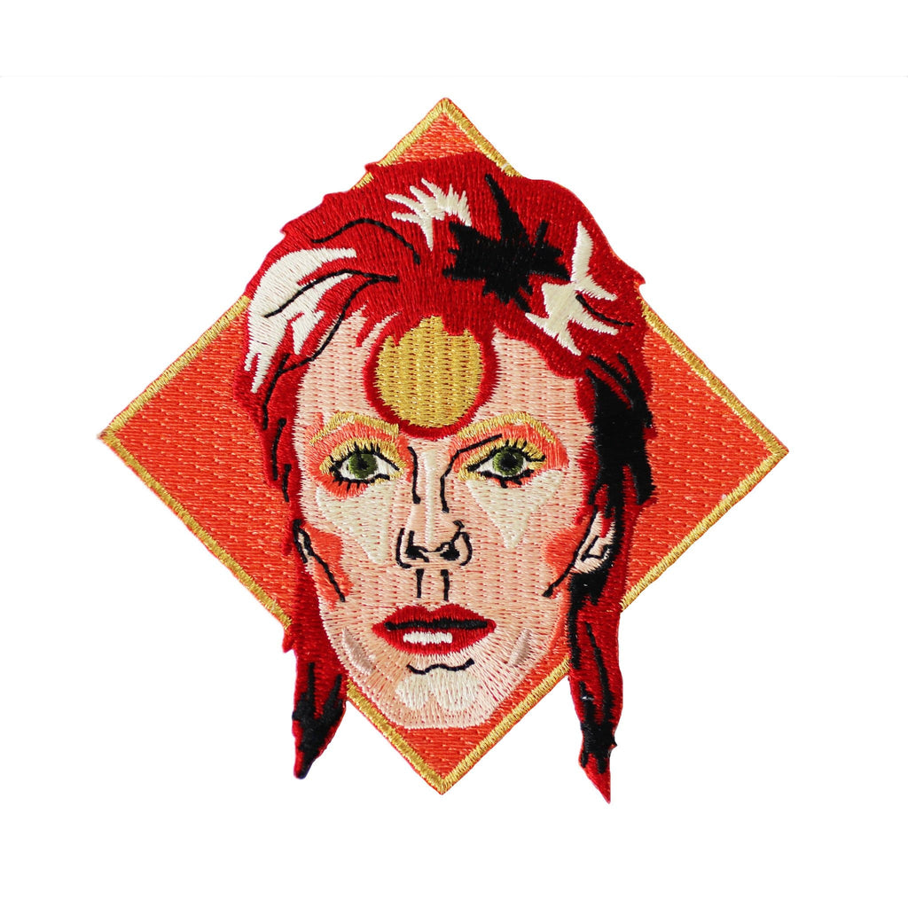 David Bowie Iron On Patch Pins & Patches Thread Famous for We Built This City 1