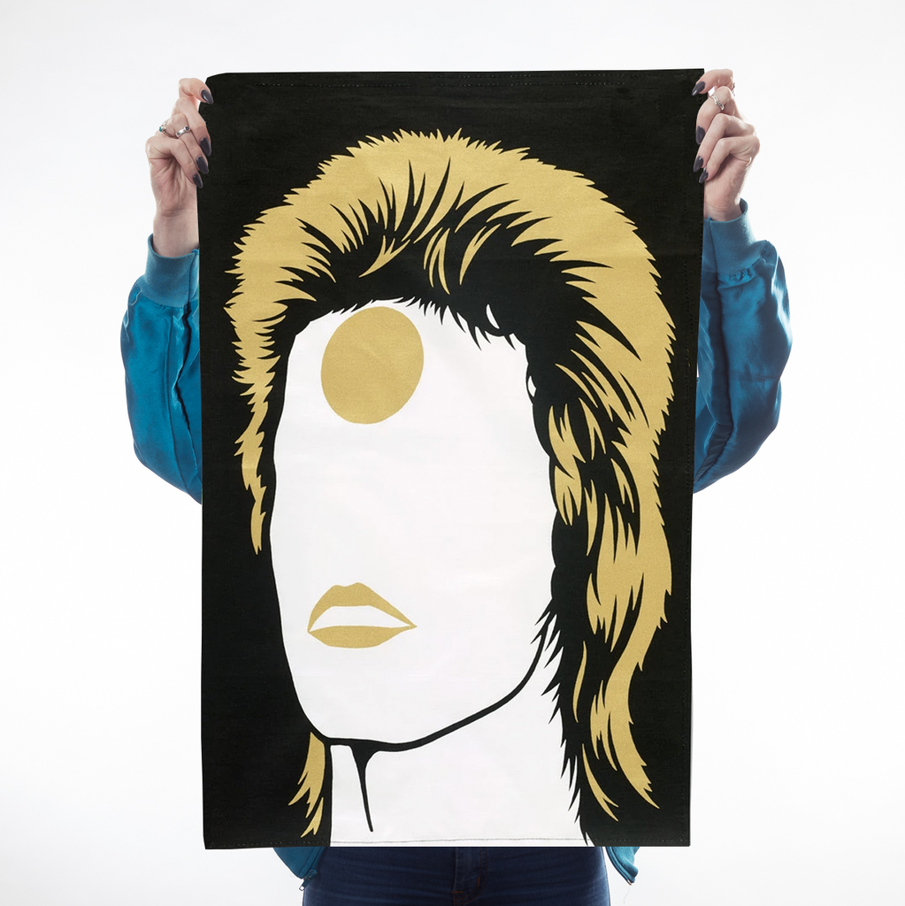 Icons Bowie Tea Towel Kitchen Textiles - Teatowels Bold & Noble for We Built This City 1