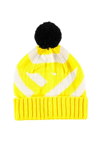 Stripe Beanie Hat - Yellow Fashion - Hats Miss Pom Pom for We Built This City 2