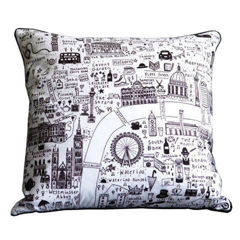 Illustrated London Map Cushion